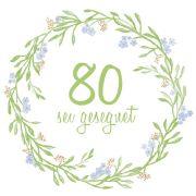 Serviette - 80. Geburtstag