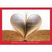 """Postkarte """"Ich glaube fest dass Gott die Liebe ist..."""" - 5 Stück"""
