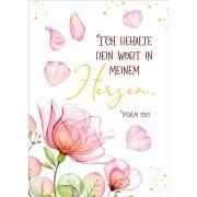 """Postkartenserie """"Ich behalte dein Wort in meinem Herzen"""" 10 Stk."""
