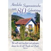Faltkarte: Herzliche Segenswünsche zum 80. Geburtstag - Geburtstag