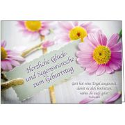 Faltkarte: Herzliche Glück- und Segenswünsche