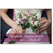 Faltkarte: Herzliche Segenswünsche zur Hochzeit
