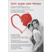 Faltkarte: Gott segne eure Herzen - Hochzeit