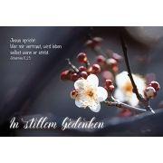 Faltkarte: In stillem Gedenken - Trauer