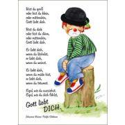 Postkarten: Clown - Bist du groß oder bist du klein (1x12)