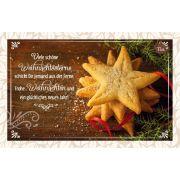 Teekarte - Weihnachtssterne