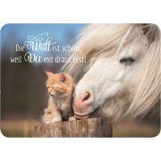 Die Welt ist schön - Postkarte