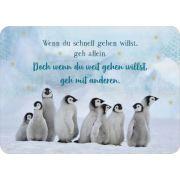 Postkarte - Wenn du schnell gehen willst, ...