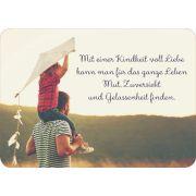 Postkarte - Mit einer Kindheit voll Liebe....