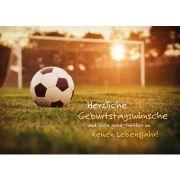 Herzliche Geburtstagswünsche für einen Fußballfan! - Faltkarte