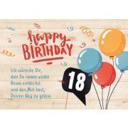 18. Geburtstag - Faltkarte