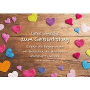 Liebe Wünsche zum Geburtstag - Faltkarte