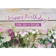Faltkarte - Happy Birthday!