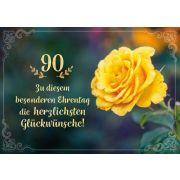Faltkarte - 90 Zu diesem besonderen Ehrentag