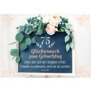 Faltkarte - 75. Glückwunsch zum Geburtstag