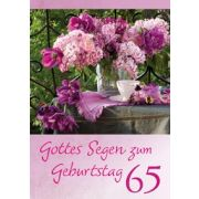 Gottes Segen zum Geburtstag 65 - Faltkarte