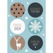 Postkarte - Weihnachtssticker 1