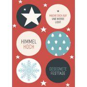 Postkarte - Weihnachtssticker 2