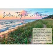 CD-Card: Jeden Tag so zu leben - Motiv Strand