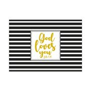 "Postkarte ""God loves you"" - Konfirmation"