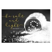 Postkarte - Be salt und light