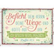 Metallschild klein - Befiehl dem Herrn deine Wege