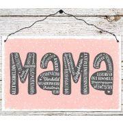 Holzschild groß - Mama