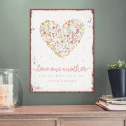 Metallschild groß - Love one another