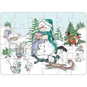 Mini-Puzzle: Schneemann