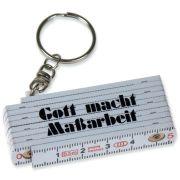 "Schlüsselanhänger ""Mini-Zollstock"" 50 cm - weiß"