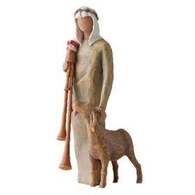 """Willow Tree Figur """"Hirte mit Sackpfeife und Ziege"""""""
