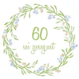 Serviette - 60. Geburtstag