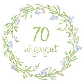 Serviette - 70. Geburtstag