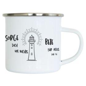 """Emaille-Becher """"Leuchtturm"""""""