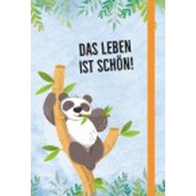 Notizbuch Panda: Das Leben ist schön!