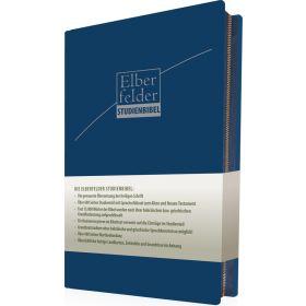 Elberfelder Studienbibel - ital. Kunstleder, blau, mit Reißverschluss