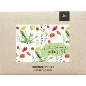 Bienenwachstücher Mohnblumenwiese - 2er Set