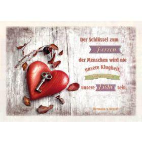Postkarten - Der Schlüssel zum Herzen, 6 Stück