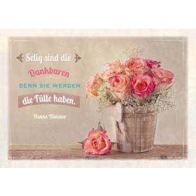 Postkarten - Selig sind die Dankbaren, 6 Stück
