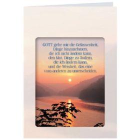 Schmuckpapier: Gott gebe mir Gelassenheit