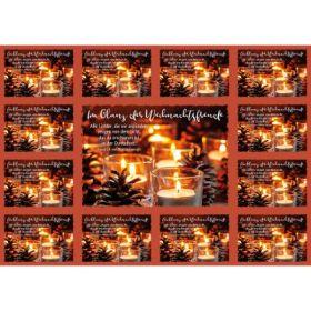 Aufkleber-Gruß-Karten: Im Glanz der Weihnachtsfreude, 4 Stück