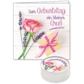 """Lichtgruß """"Zum Geburtstag ein kleinen Gruß"""""""
