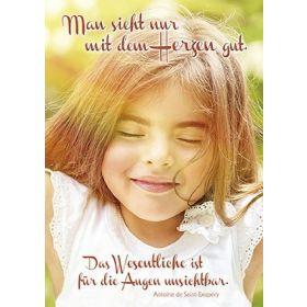 Postkarten: Man sieht nur mit dem Herzen gut, 12 Stück