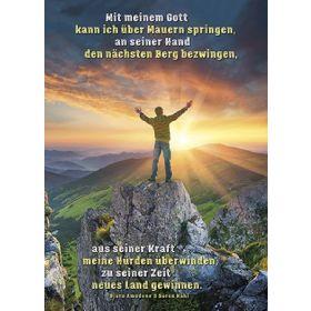 Postkarten: Mit meinem Gott, 12 Stück
