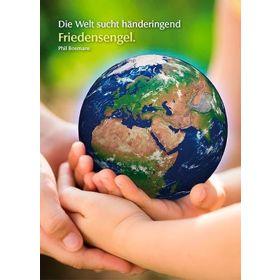 Postkarten: Die Welt sucht händeringend Friedensengel, 4 Stück