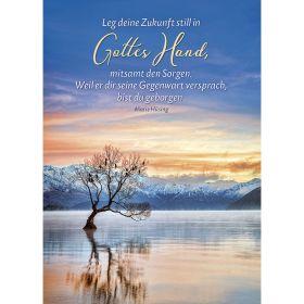 Postkarten: Leg deine Zukunft still in Gottes Hand, 4 Stück