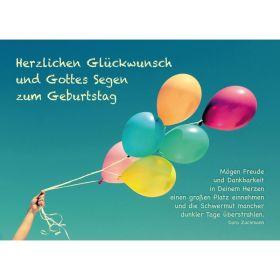 Postkarten: Herzlichen Glückwunsch, 4 Stück