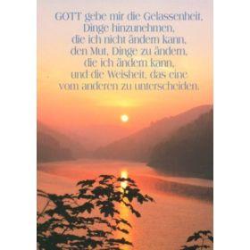 Postkarten: Gott gebe mir die Gelassenheit, 4 Stück
