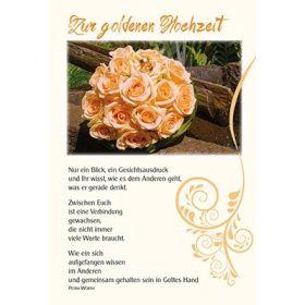 Faltkarte: Nur ein Blick - Goldene Hochzeit