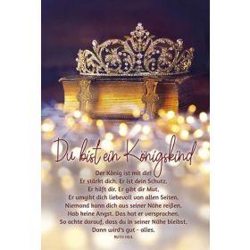 Faltkarte: Du bist ein Königskind - Konfirmation